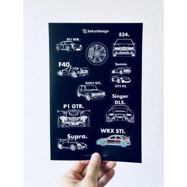 [세카이디자인] 차량용 스티커 - Season 1 (총 2장, 20개 디자인)