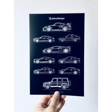 [세카이디자인] 차량용 스티커 - Season 2 (총 4장, 38개 디자인)
