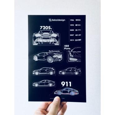[세카이디자인] 차량용 스티커 - Season 3 (총 4장, 36개 디자인)