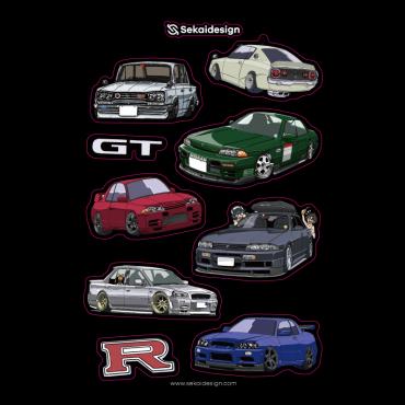 [세카이디자인] 차량용 스티커 -닛산 지티알 50주년 기념 스티커