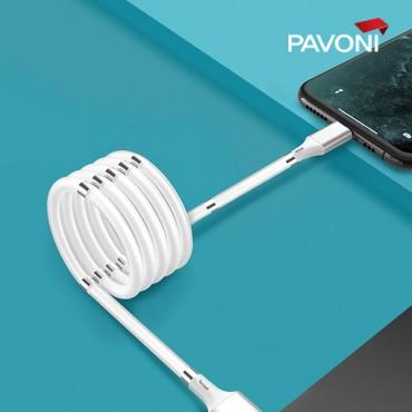 [파보니] 줄꼬임 방지 C타입 케이블 1M 휴대폰케이블